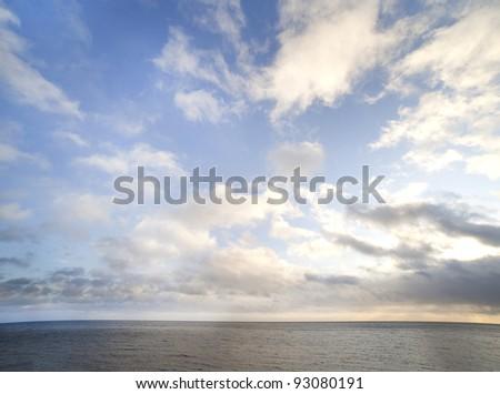 Gulf of Riga, Baltic sea in autumn. - stock photo