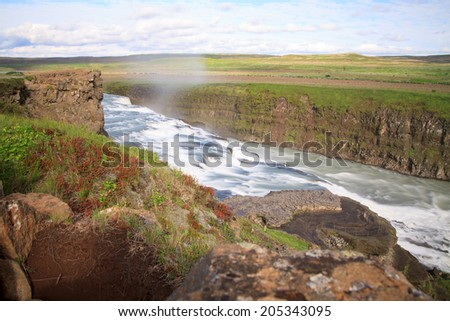 Gulfoss, Iceland. The Great Watefall.
