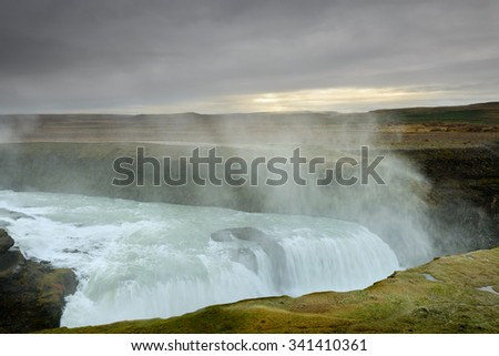 Gullfoss is an amazing waterfall located in the canyon of Hvita river in southwest Iceland. Wonderful landscapes in one of the must-see tourist attractions in this dream holiday.