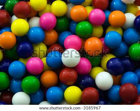 Gum ball background - stock photo