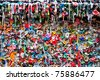 Gum wall post alley Seattle - stock photo