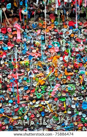 Gum wall post alley Seattle