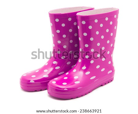 Gumboots. Isolated on white. - stock photo