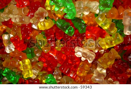 gummi-bears - stock photo