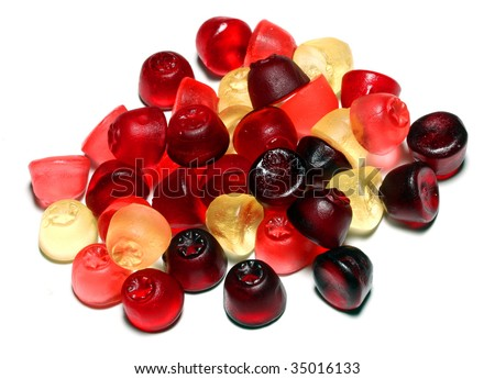 Gummi sweets the ultimate candy snack for kids and children - stock photo