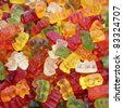 gummy bear background - stock photo