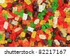 gummy bears background - stock photo