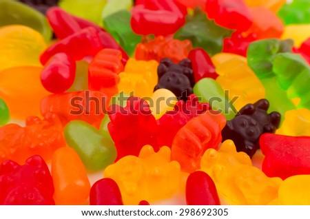 Gummy bears Candy - stock photo