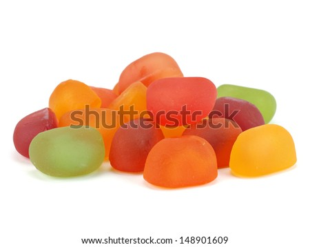 Gummy candies on a white background       - stock photo