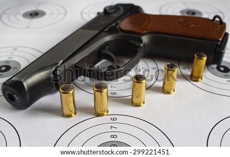 Gun. - stock photo