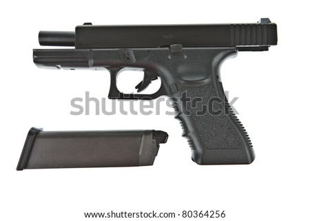 gun and magazine