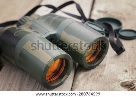 gun binoculars - stock photo