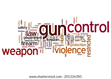 Gun control concept word cloud background - stock photo