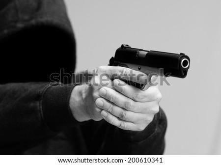 Gun Crime - stock photo
