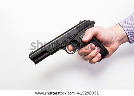 Gun isolated on a white background