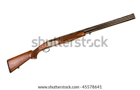 gun isolated on a white background - stock photo