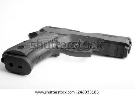 Gun isolated on white background - stock photo