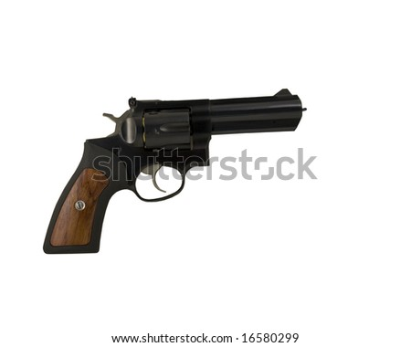 Gun isolated on white with clipping path - stock photo