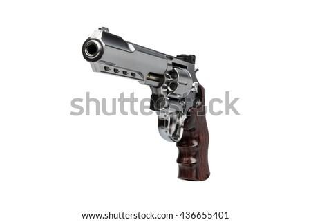 Gun Magnum white Background - stock photo