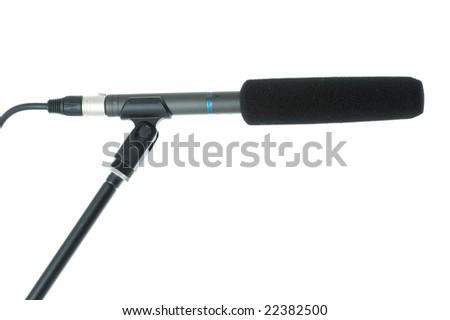 gun microphone with windscreen