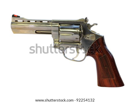Gun on white background with Clipping Part