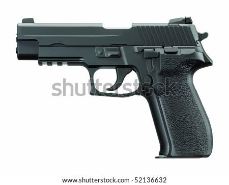 Gun, pistol, handgun. - stock photo
