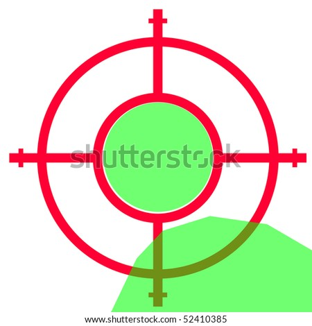 Gun sight isolated on white background with copy space. - stock photo
