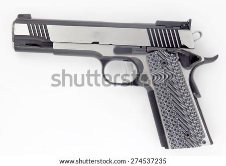 Gun symbol of death, war, murder. - stock photo