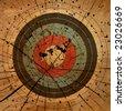 Gun Target Grunge Background - stock photo