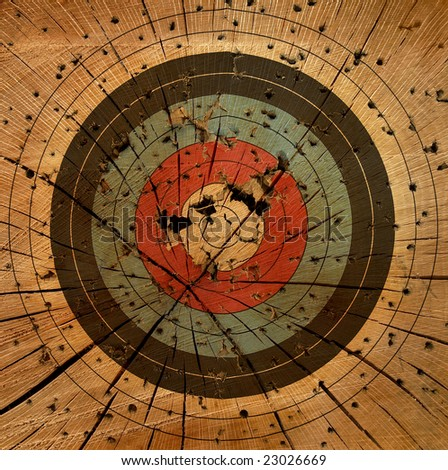 Gun Target Grunge Background - stock photo