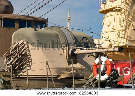 Gun tower - stock photo