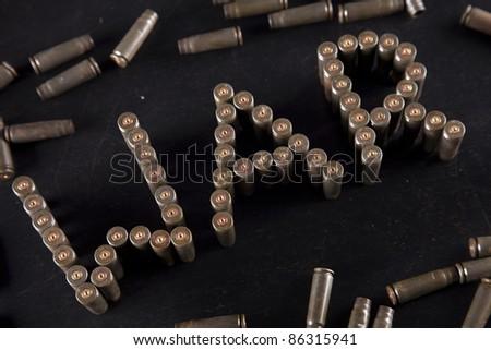 Gun, war and combat theme - stock photo