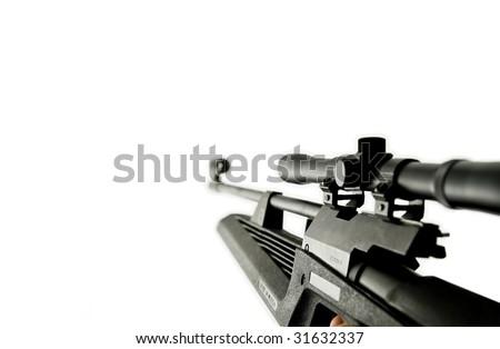 Gun with optic. scope - stock photo