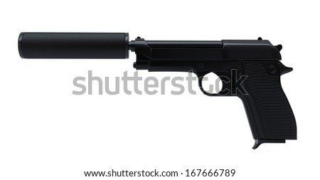 Gun with silencer