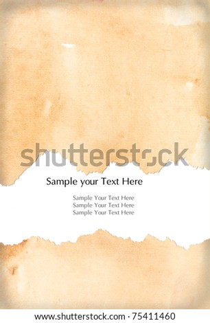 Gunge Paper with space for your text - stock photo