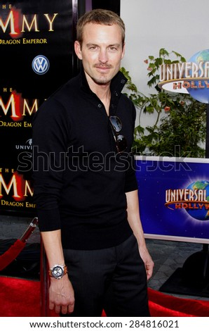 Gunner Wright at the Los Angeles premiere of 'The Mummy: Tomb Of The Dragon Emperor' held at the Gibson Amphitheatre in Universal City on July 27, 2008.  - stock photo