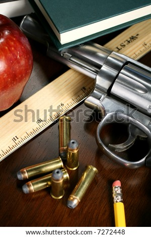 Guns in the School System - stock photo