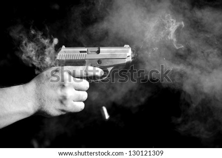 Gunshot - stock photo