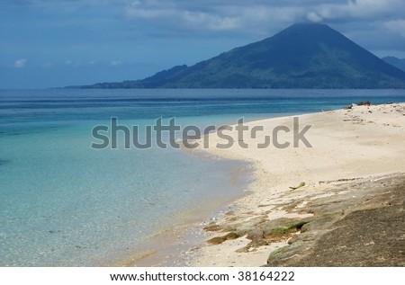 Gunung Api volcano in Indonesia. Banda islands. - stock photo