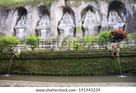 Gunung kawi temple in Bali, Indonesia, Asia - stock photo