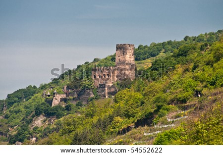 Gutenfels castle (rhine valley ) - stock photo