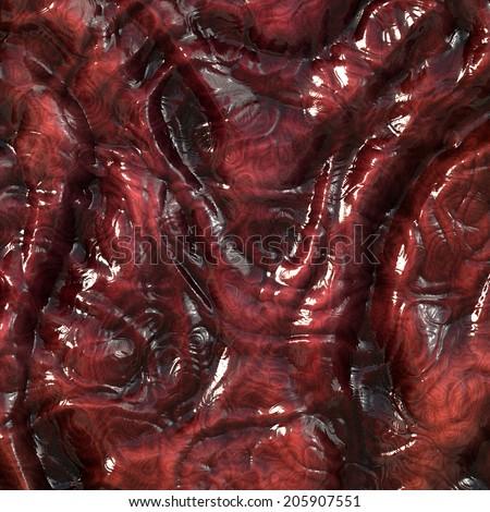 Guts flesh closeup macro image - stock photo