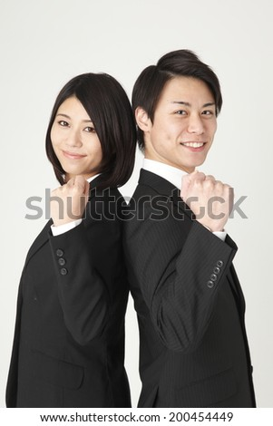 Guts pose two people - stock photo