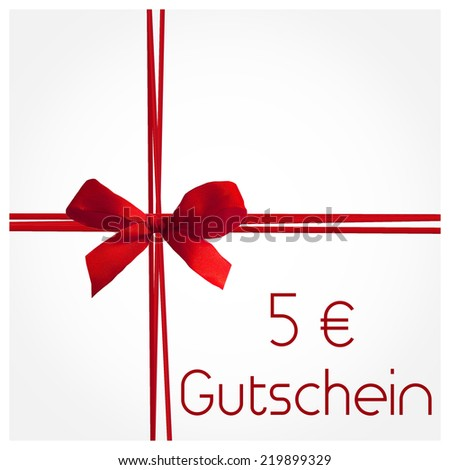 Gutschein - voucher in german - stock photo