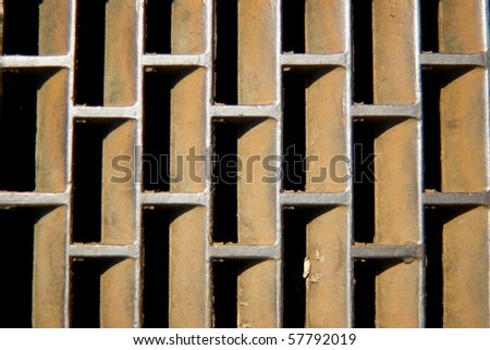 Gutter grill - stock photo