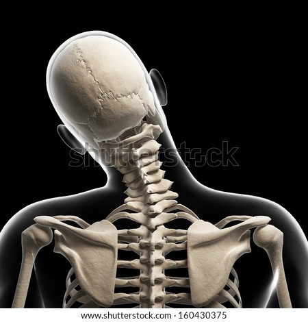 guy bending his neck - stock photo