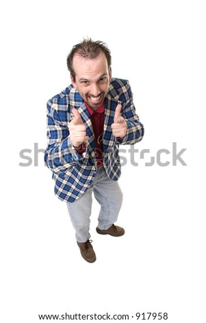 Guy in plaid jacket, who thinks he is really cool.