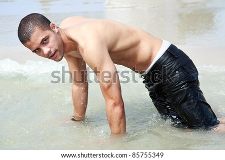 guy on the beach