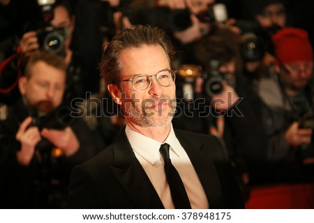 Guy Pearce attends the 'Genius' premiere during the 66th Berlinale International Film Festival Berlin at Berlinale Palace on February 16, 2016 in Berlin, Germany. - stock photo