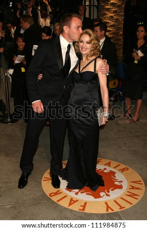 Guy Ritchie and Madonna at the 2007 Vanity Fair Oscar Party. Mortons, West Hollywood, CA. 02-25-07 - stock photo